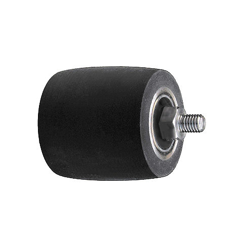 ELAX® GO / ELAX® V with bearing and head bolt M8, Contact wheels for belt grinding. Contact Wheels with grooved cushion, elastic foam cushion, made of foam flaps.