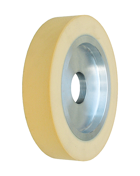 ELAX® VSDH, Contact wheels for belt grinding. Contact Wheels with grooved cushion, elastic foam cushion, made of foam flaps.