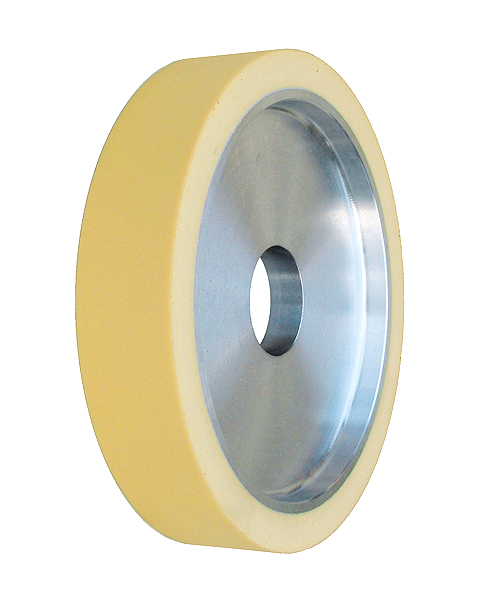 ELAX® VSDN, Contact wheels for belt grinding. Contact Wheels with grooved cushion, elastic foam cushion, made of foam flaps.