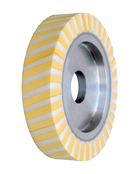 Ventiflex® HH, Contact wheels for belt grinding. Contact Wheels with grooved cushion, elastic foam cushion, made of foam flaps.