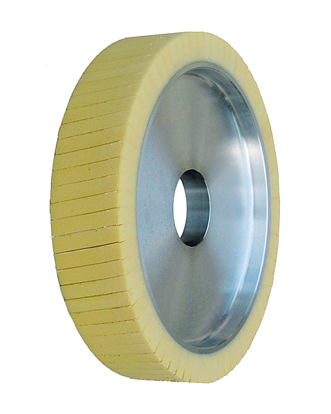 Ventiflex® N, Contact wheels for belt grinding. Contact Wheels with grooved cushion, elastic foam cushion, made of foam flaps.