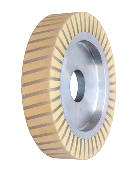 Ventiplast Spezial, Contact wheels for belt grinding. Contact Wheels with grooved cushion, elastic foam cushion, made of foam flaps.